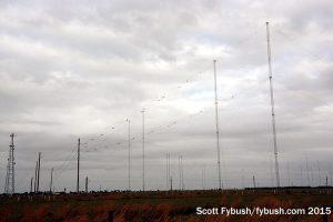 One of WRMI's antennas