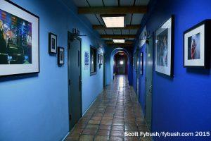 Big blue hallway