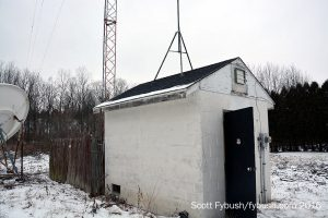 WDNY's transmitter building