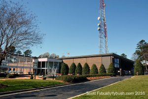 The WRAL-TV/WRAZ building
