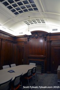 Bank boardroom
