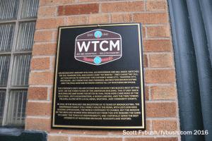 WTCM's plaque