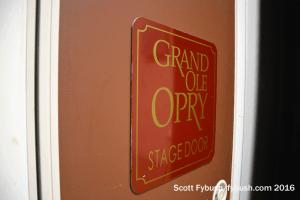 Opry stage door