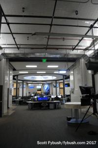 Newsroom hallway