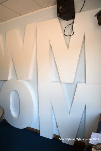 WMOM studio wall
