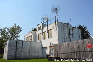 WHAM's transmitter building
