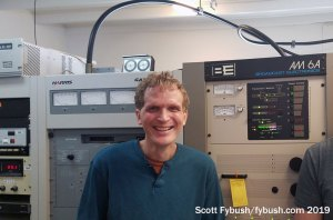 Dave in the WWFD transmitter room