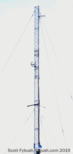 WZZB tower and translator antennas
