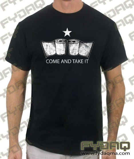 come-and-take-it-toilet paper-black-tshirt
