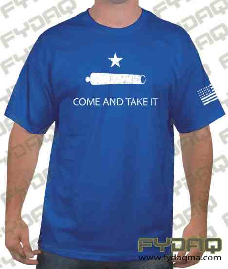 Gonzales-Come-and-Take-It-Cannon-royal-blue-Tees-FYDAQ