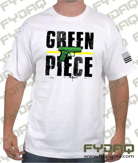 green-piece-glock-white-shirt