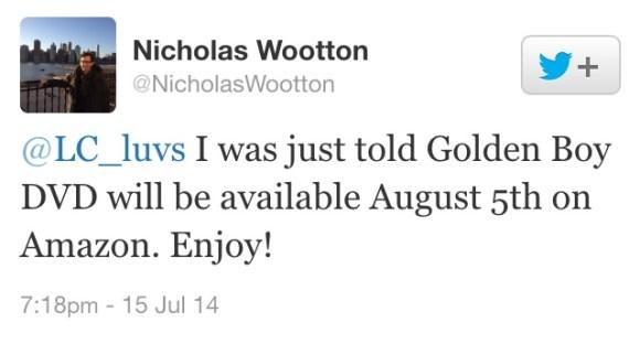 golden boy dvd release date