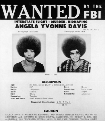 FBI Poster of Communist Activist Angela Davis