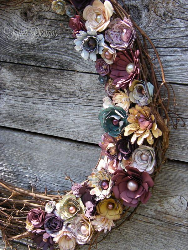 A Beautiful Paper Flower Wreath