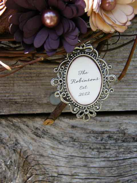 Add a name plate to a wreath for a special personalized gift