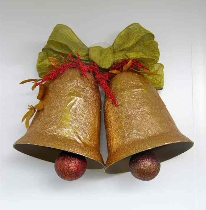 Big holiday bells made with... you'll never guess