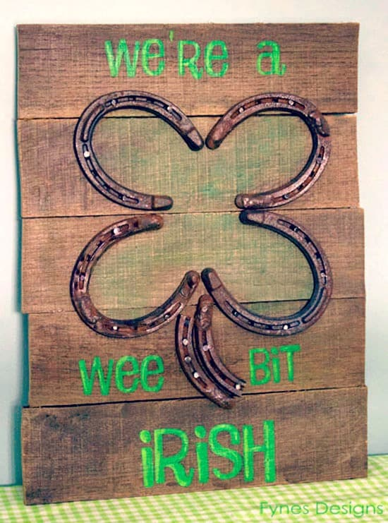 Wee bit Irish #pallet sign from fynesdesings.com