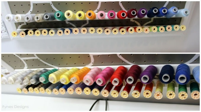 How to make a DIY thread rack, a tutorial featured by top US craft blog, Fynes Designs