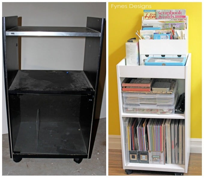 Record-cart-to-craft-storage