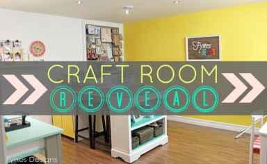 craft room reveal from fynesdesigns.com