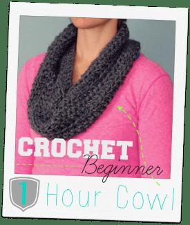 crochet beginner 1 hour cowl