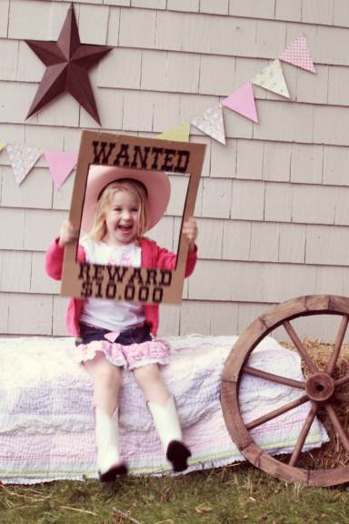 the cutest WANTED prop for a western theme birthday party fynesdesigns.com