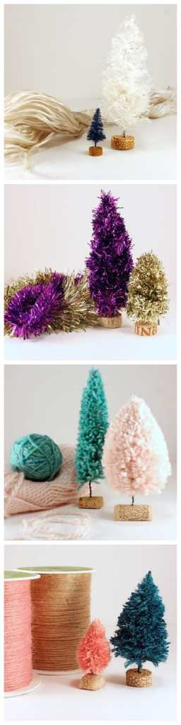 DIY bottle brush tree tutorial, featured by top US craft blog, Fynes Designs: Tutorial for creating rope, garland, yarn and twine, bottle brush trees