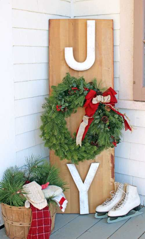 Outside JOY sign, a tutorial featured by top US life and style blog, Fynes Designs