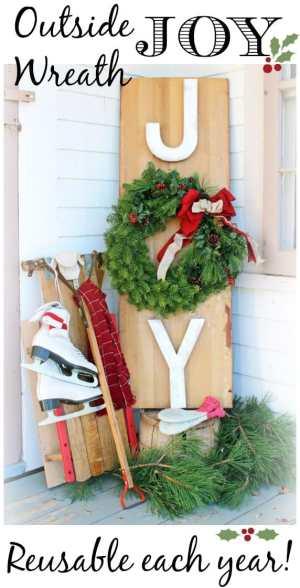 Outside Joy Wreath- The Great Canadian Wreath Hop