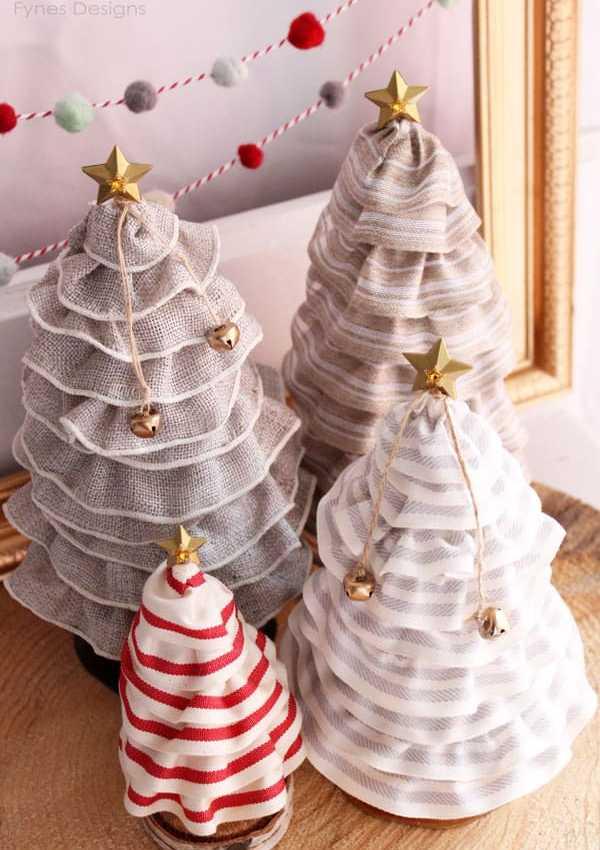 Ruffled Ribbon Christmas Trees from fynesdesigns.com