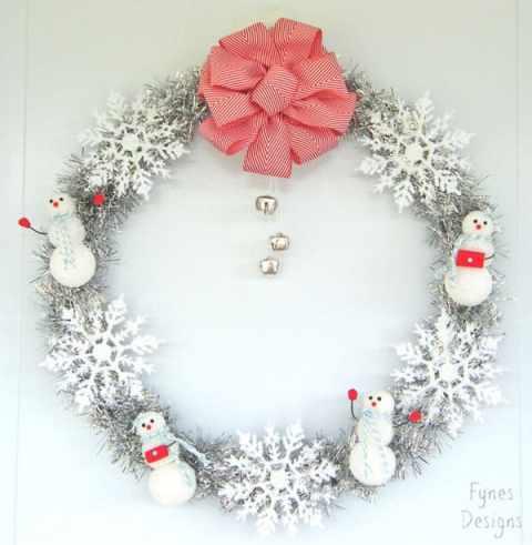 Sparkly Snowmen Wreath