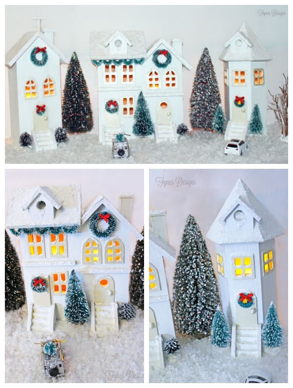 EASY DIY Christmas Village from fynesdesigns.com