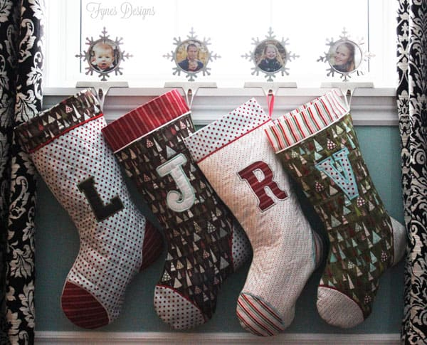Quitled Christmas stockings from fynesdesings.com