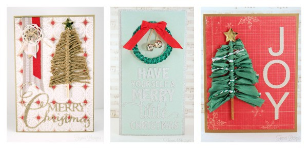 Easy Christmas card ideas from fynesdesigns.com