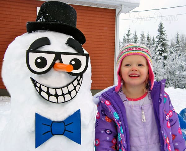 EASY DIY snowman kit from fynesdesigns.com