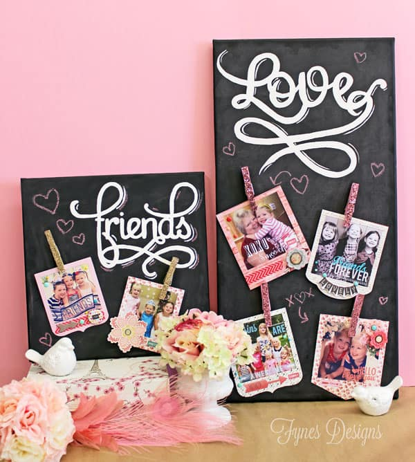 Valentine Instagram photo canvas