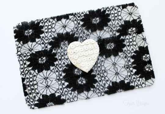May Arts ribbon Lace paper cards