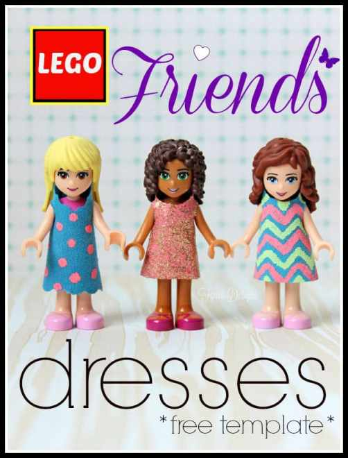 Free template for Lego Friends mini figures via fynesdesigns.com