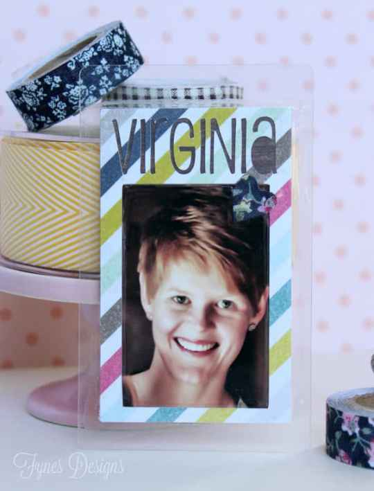 Make these easy personalized luggage tags for your craft bags #XyronInc #luggagetags #scrapbooking #paper #diy #crafts
