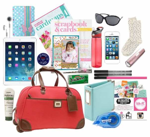 Crafty Girls Carry on Bag #travel #crafts #flying