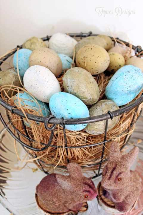 Decoupage plastic easter eggs with tissue paper #easter