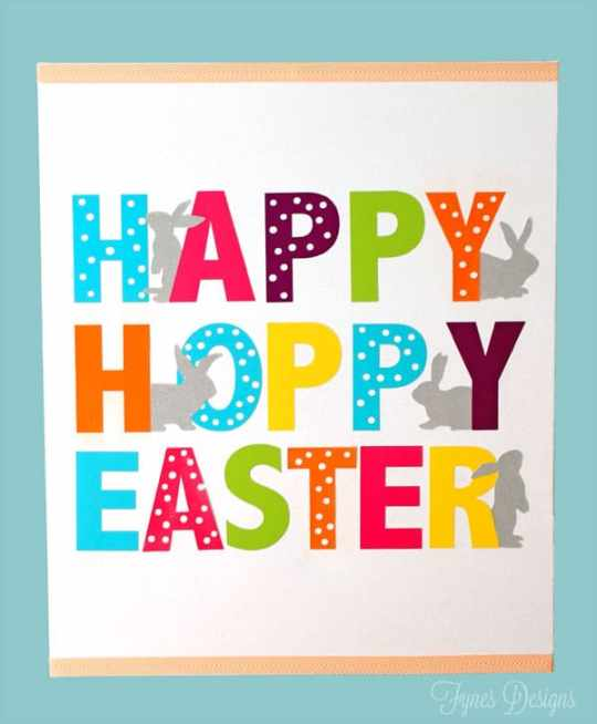Easy Easter Canvas #mayartsribbon #xyron #michaels #dcwv #silhouette