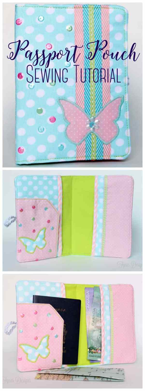 FREE passport pouch step by step sewing tutorial