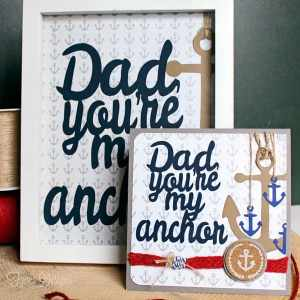 One Father's Day Silhouette Cut File two project ideas
