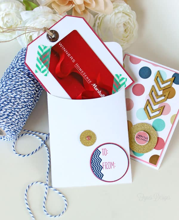 Easy Handmade greeting card with a free template- perfect for earings, gift-cards, necklaces, or just kind words. FREE template