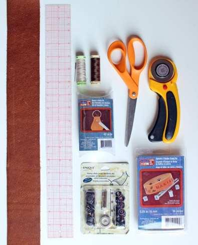 DIY leather camera strap supplies