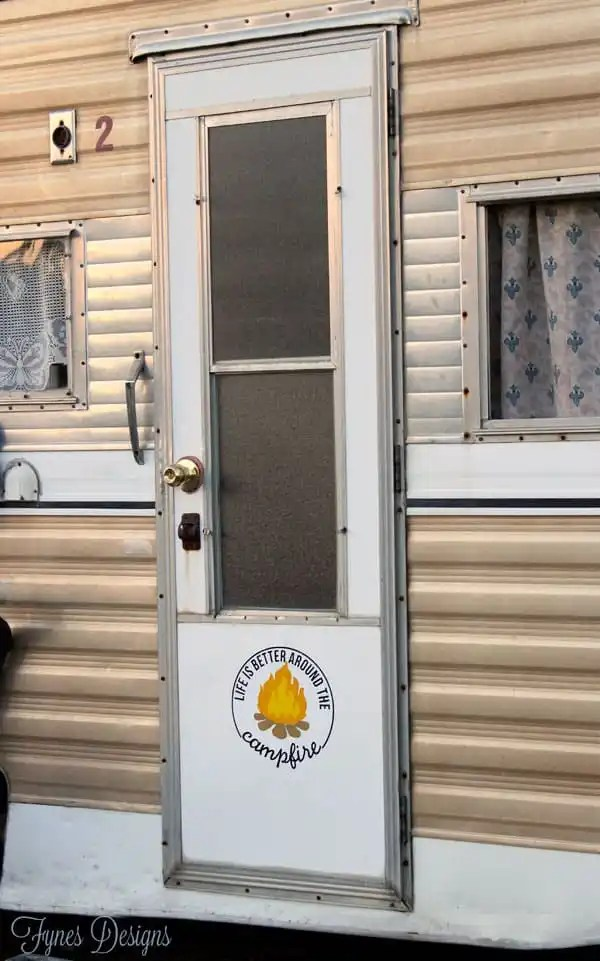 DIY Camper decals and bumper stickers . Easily recreate with FREE cut- files and Expressions Vinyl