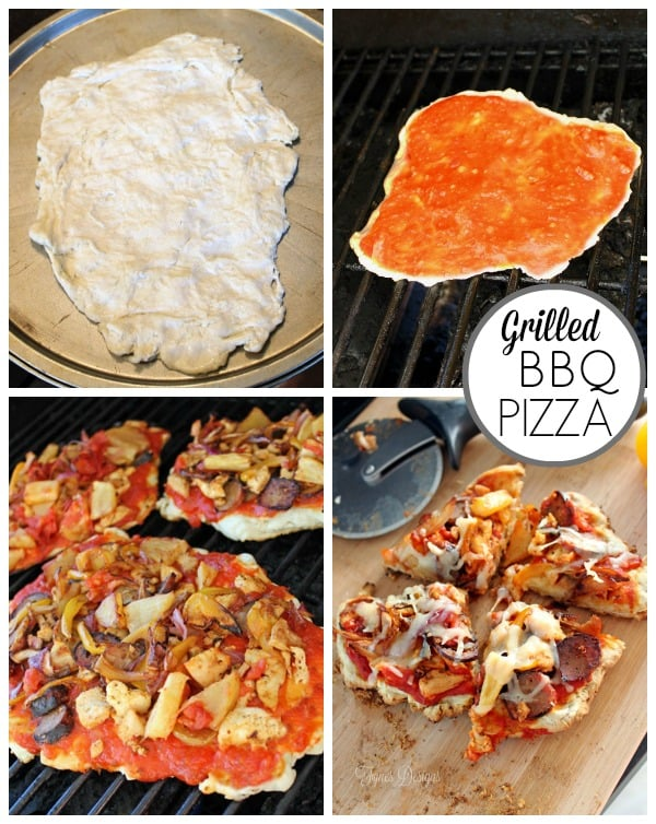 How to make BBQ pizza on the grill