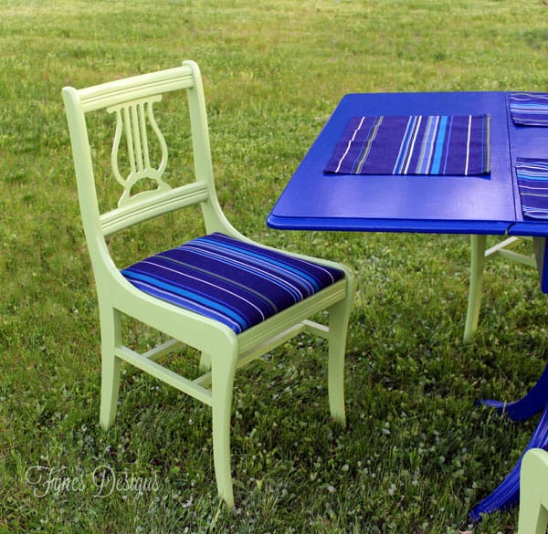 Painted Outdoor Dining Set