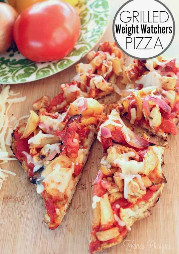 Weight Watchers Grilled BBQ Pizza
